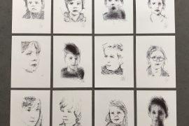 Roboter Art Porträts